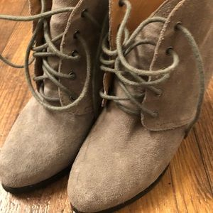 Kimchi Blue Gray Suede Booties
